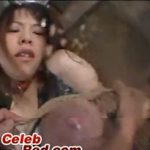 ※紐縄でおっぱいを縛られ母乳を巻き散らかす変態な爆乳妻