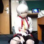 ※アニコス着たまま窒息電マ拷問プレーを自演する着ぐるみレイヤー! かなりシュールな画になっています