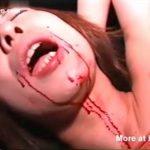 ※行き過ぎたSMプレイがグロ過ぎる・・・口や胸にニードルをブッ刺され血塗れになり拷問調教される肉奴隷な女の子